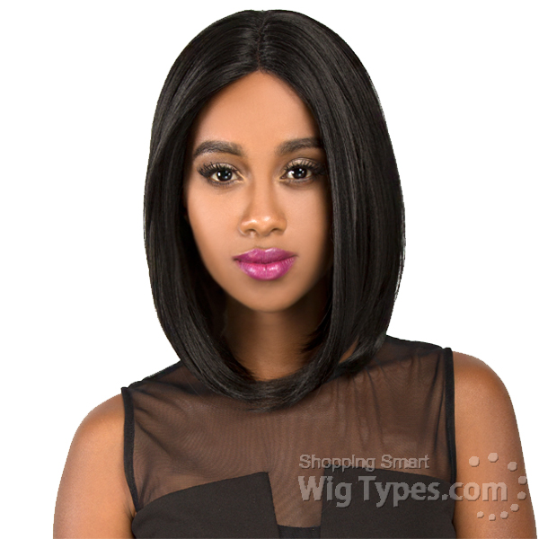 The Wig Synthetic Hair Invisible Deep Middle Part Lace Wig - LS DIVA ... 6b4d25bc9