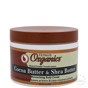 Ultimate Organics Cocoa Butter & Shea Butter Moisturizing Body Cream 8oz