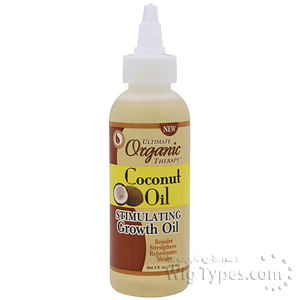 Ultimate Organics Coconut Oil Stimulating Growth Oil 4oz