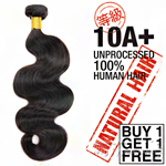 100% Unprocessed Natural Human Hair - 10A+ BODY WAVE (Buy 1 Get 1 FREE)