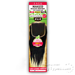 100% Unprocessed Brazilian Virgin Remy Hair Lace Closure - NAKED 4X4 STRAIGHT 12