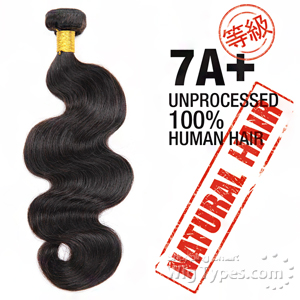 100% Unprocessed Natural Human Hair - 7A+ BODY WAVE 20
