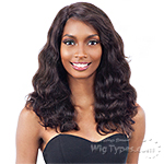 Naked 100% Unprocessed Remy Hair Deep Invisible L Part Lace Front Wig - BODY WAVE