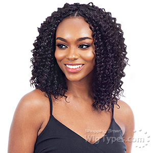 Naked 100% Human Hair Crochet Braid - PRE LOOP TYPE DEEP CURL 10