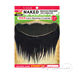 100% Unprocessed Brazilian Virgin Remy Hair Lace Frontal Closure - NAKED 13X4 STRAIGHT 12