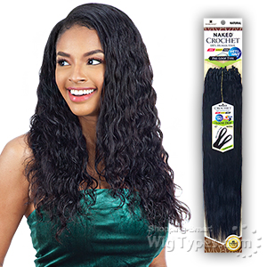 Naked 100% Human Hair Wet & Wavy Crochet  Braid - PRE LOOP TYPE LOOSE DEEP 18