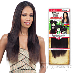 100% Unprocessed Brazilian Virgin Remy Hair - NAKED BRAZILIAN STRAIGHT 7PCS (14/14/16/16/18/18 + closure)