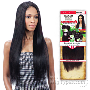 100% Unprocessed Brazilian Virgin Remy Hair - NAKED BRAZILIAN STRAIGHT 7PCS (18/18/20/20/22/22 + closure)