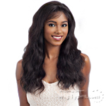 100% Unprocessed Brazilian Virgin Remy Hair Deep Invisible L Part Lace Front Wig - NATURAL WAVY