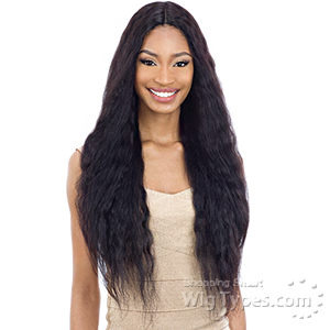 Naked 100% Brazilian WET & WAVY Natural Hair Lace Deep Part Wig - DEEP WAVE 30