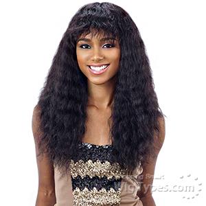 Naked 100% Brazilian Natural Hair Wig - WET & WAVY DEEP CURL BANG