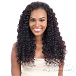 Model Model Nude Leaf 100% Unprocessed Brazilian Virgin Remy Hair Weave - DEEP WAVE 7PCS (18/18/20/20/22/22 + Closure)