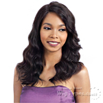 Model Model Nude 100% Brazilian Natural Human Hair L Part Lace Front Wig - NATURAL LOOSE WAVE