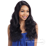 Model Model Nude 100% Brazilian Natural Human Hair L Part Lace Front Wig - NATURAL S WAVE
