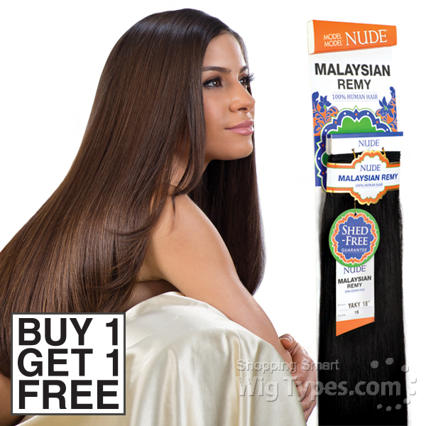 Model Model 100 Remy Hair Weave Nude Malaysian Yaky Buy 1 Get 1