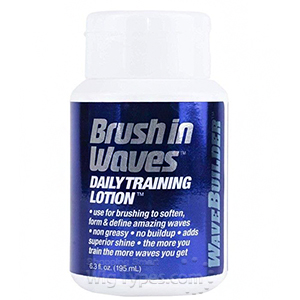 Wave Builder Brush in Waves Daily Training Lotion 7oz