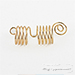 WIGO Collection Hair Accessories Braid Ring - HALF SPIRAL 3PCS (CTG3)