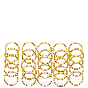 WIGO Collection Hair Accessories Braid Ring - (CTG12 - Gold Ring 25pcs)