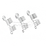 WIGO Collection Hair Accessories Braid Ring - SPIRAL 3PCS (CTG6 - SILVER)