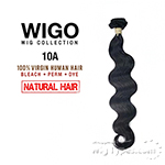 WIGO Collection 100% Brazilian Virgin Human Hair Weave - 10A BODY WAVE