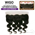 WIGO Collection 100% Brazilian Remy 13x4 3-Way Parting Swiss Lace Frontal BODY 14