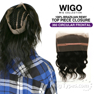 WIGO Collection 100% Brazilian Remy 360 Circular Frontal – BODY 14