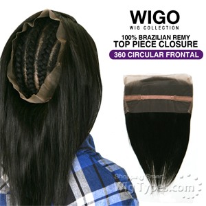 WIGO Collection 100% Brazilian Remy 360 Circular Frontal – STRAIGHT 14