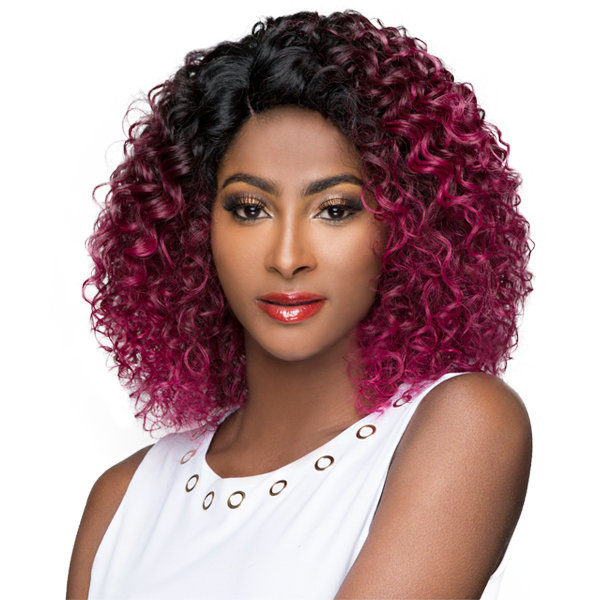 WIGO Collection Synthetic Hair Extreme Side Deep Natural Plucked C-Shape Part Wig - LA DONNA