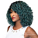 WIGO Collection Synthetic Hair Extreme Side Deep Natural Plucked C-Shape Part Wig - LA DONNA (Ear-to-Ear Elastic Band Wig)