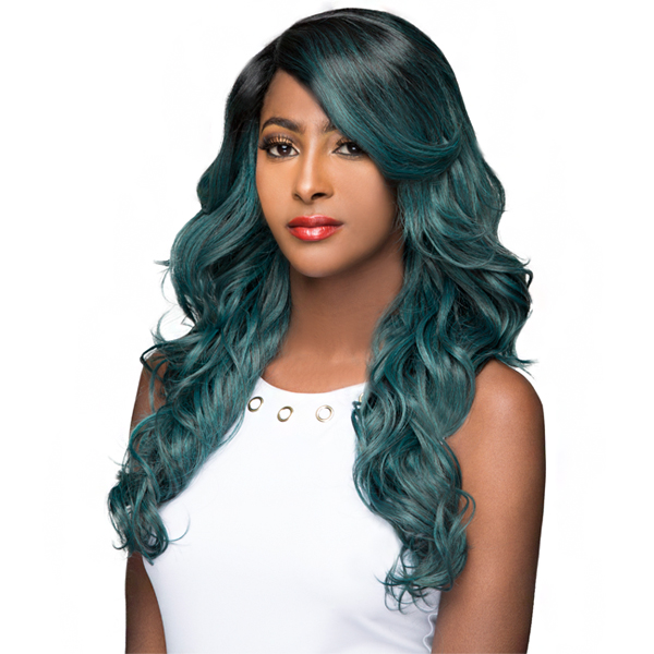 WIGO Collection Synthetic Hair Extreme Side Deep Natural Plucked C-Shape Part Wig - MAXI