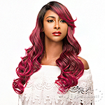WIGO Collection Synthetic Hair Extreme Side Deep Natural Plucked C-Shape Part Wig - WENDY (Ear-to-Ear Elastic Band Wig)