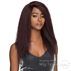 WIGO Collection Synthetic Hair Extreme Side Deep Natural Plucked Lace Front Wig - LACE 1B BLOW OUT STRAIGHT 18 (Buy 1 Get 1 Free)