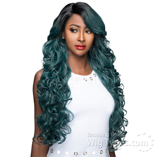 WIGO Collection Synthetic Hair Extreme Side Deep Natural Plucked Lace Front  Wig - LACE ENCIA ( cc664da1c56b