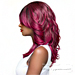 WIGO Collection Synthetic Hair Extreme Side Deep Natural Plucked Lace Front Wig - LACE PERRY (Ear-to-Ear Elastic Band Wig)