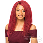 WIGO Collection Synthetic Hair Extreme Side Deep Natural Plucked Lace Front Wig - LACE 1B BLOWOUT STRAIGHT 18