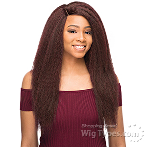 WIGO Collection Synthetic Hair Extreme Side Deep Natural Plucked Lace Front Wig - LACE 1B BLOWOUT STRAIGHT 24