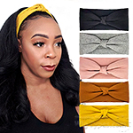 Bon Knotted Wide Knit Turban Headband