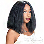 Zury Sis Slay Blunt Synthetic Hair Lace Front Wig - SLAY BLUNT LACE H HAHA  (6 inch Deep Center Part)