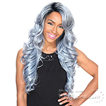 Zury Sis Synthetic Hair Invisible Top C Part Lace Wig - IV LACE H ARI 24